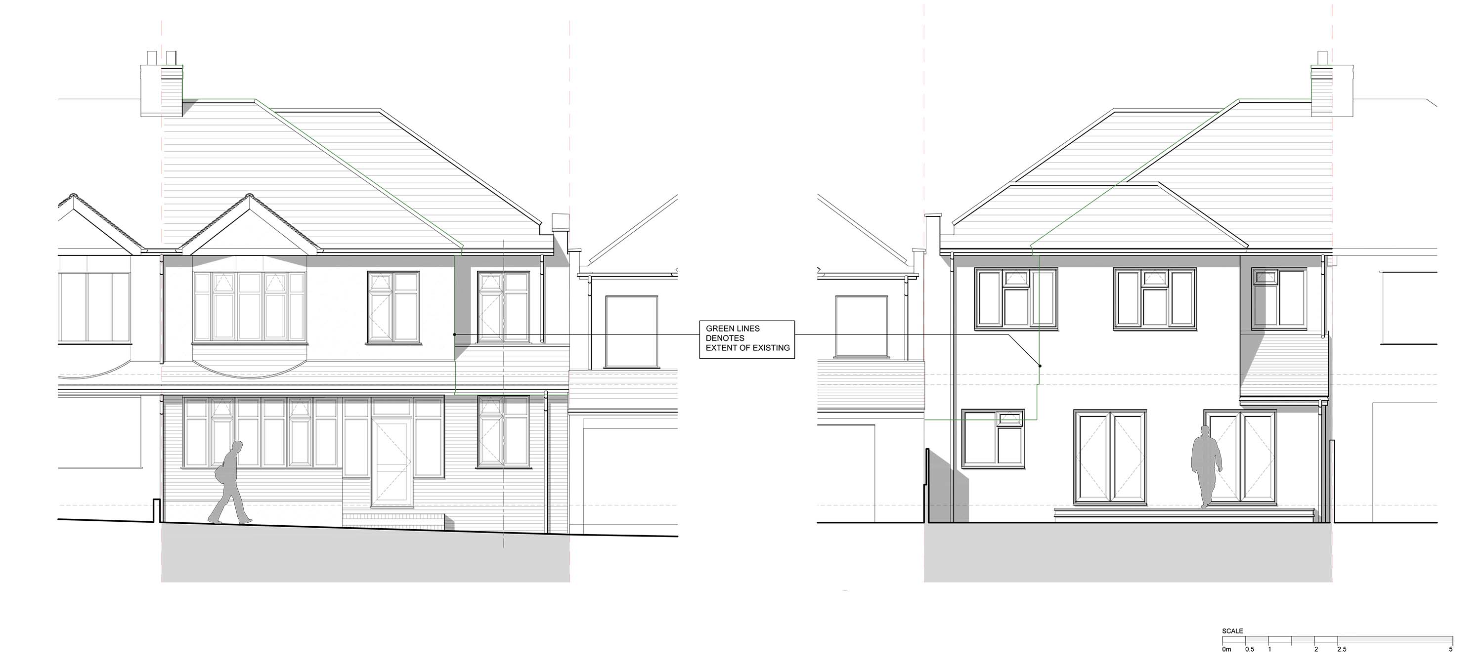 Planning permission granted for two storey side extension for Double storey semi detached house floor plan